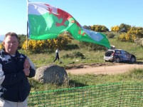 Rally Travel - 1st time for rally Portugal in th� North it was Well worth a visit with David & Neil of rally Travel and all the lovely people that were on the bus I had a Brilliant time with you all Duncan supporting  ElfynEvans with my welsh flag.